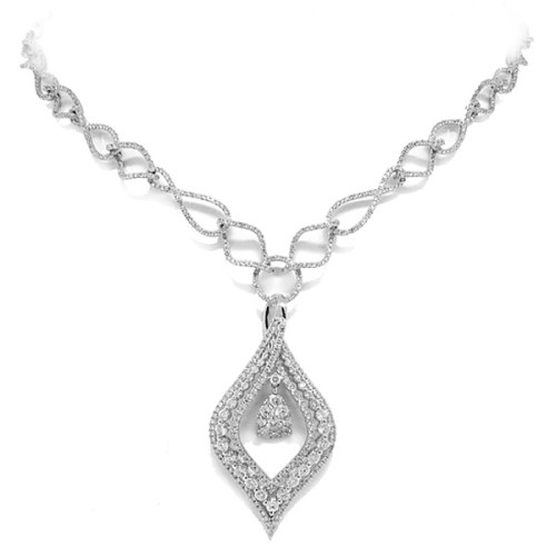 4.08ct 14k White Gold Diamond Necklace SC22002977 - 4.08ct 14k White Gold Diamond Necklace SC22002977