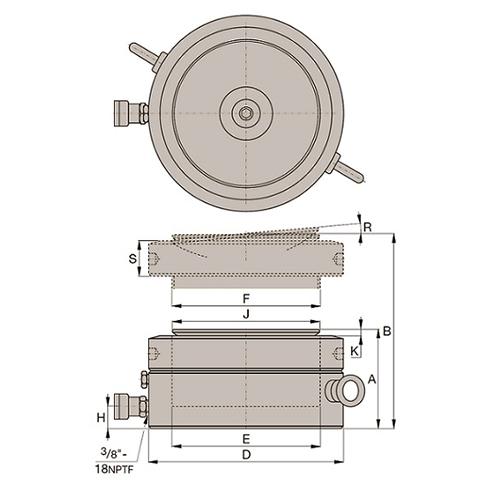 Cilindro de Aço Ultra Baixo Porca Trava (CSP): CSP