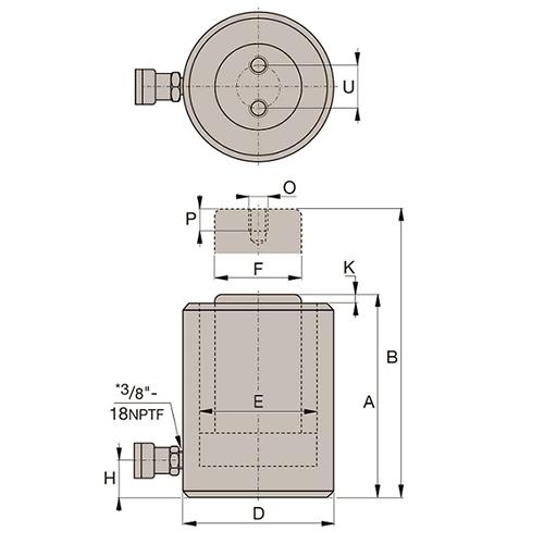 Cilindro de Aço Compacto (CC): CC