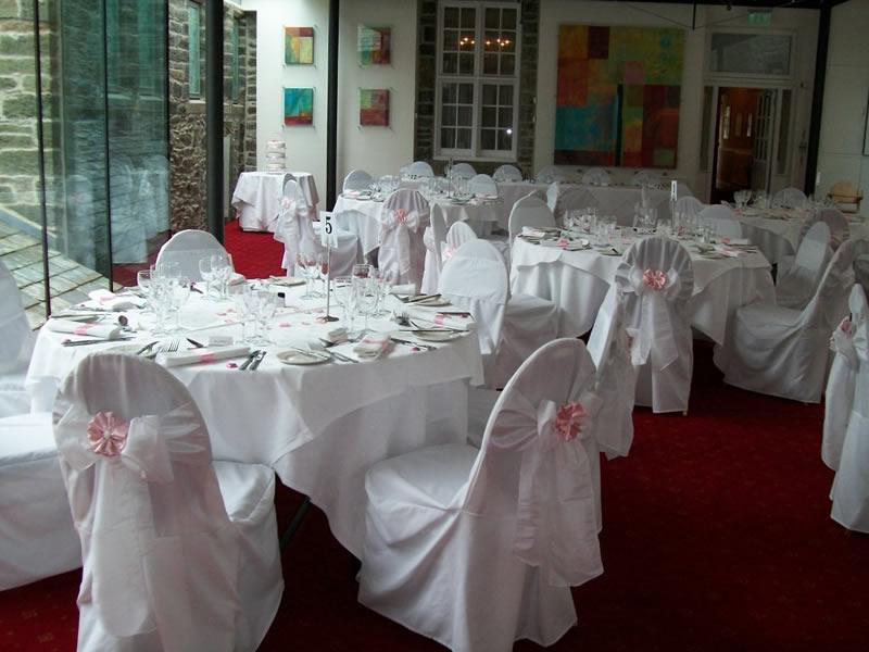 wedding chair cover hire bedford blue chairs resort by the sea devon hotel tavistock