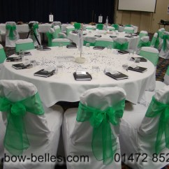 Chair Cover And Sash Hire Birmingham Revolving Visitor Wedding Green Organza With