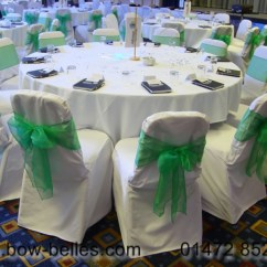 Chair Cover And Sash Hire Birmingham How To Make Adirondack Chairs Wedding Green Organza With