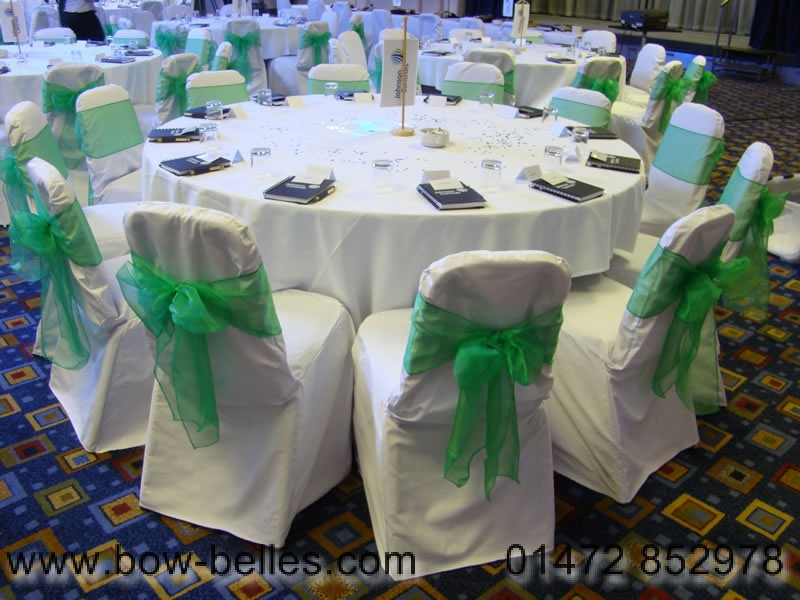 chair cover hire in birmingham white outdoor chairs nz wedding green organza sash with