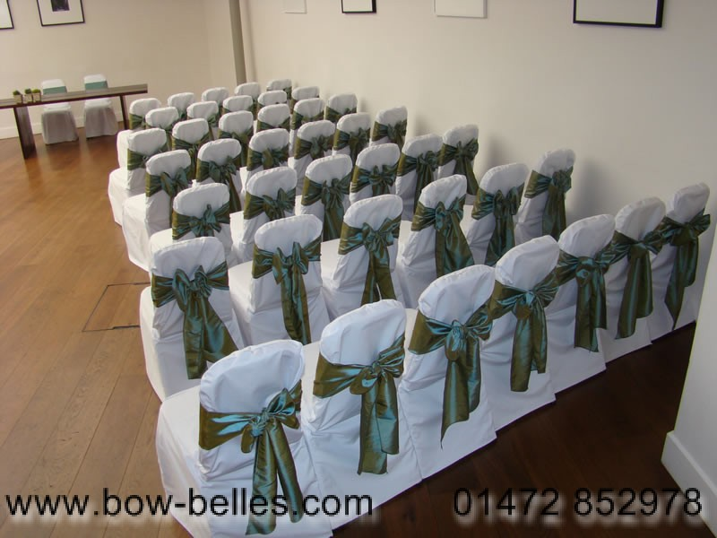chair covers sage green wood and leather wedding cover hire sash