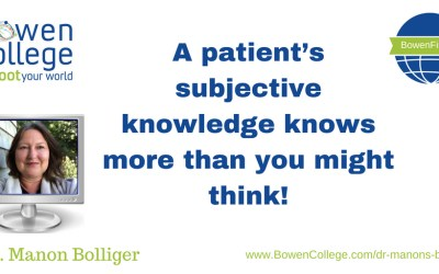A patient's subjective knowledge knows more than you might think!