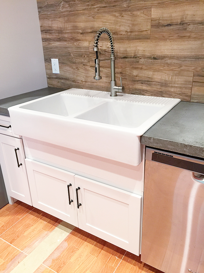 cabinet for a farm house sink