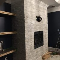 Tiling A Stacked Stone Fireplace Surround