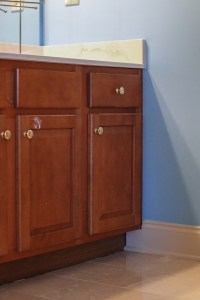 How to Refinish a Bathroom Vanity - Bower Power