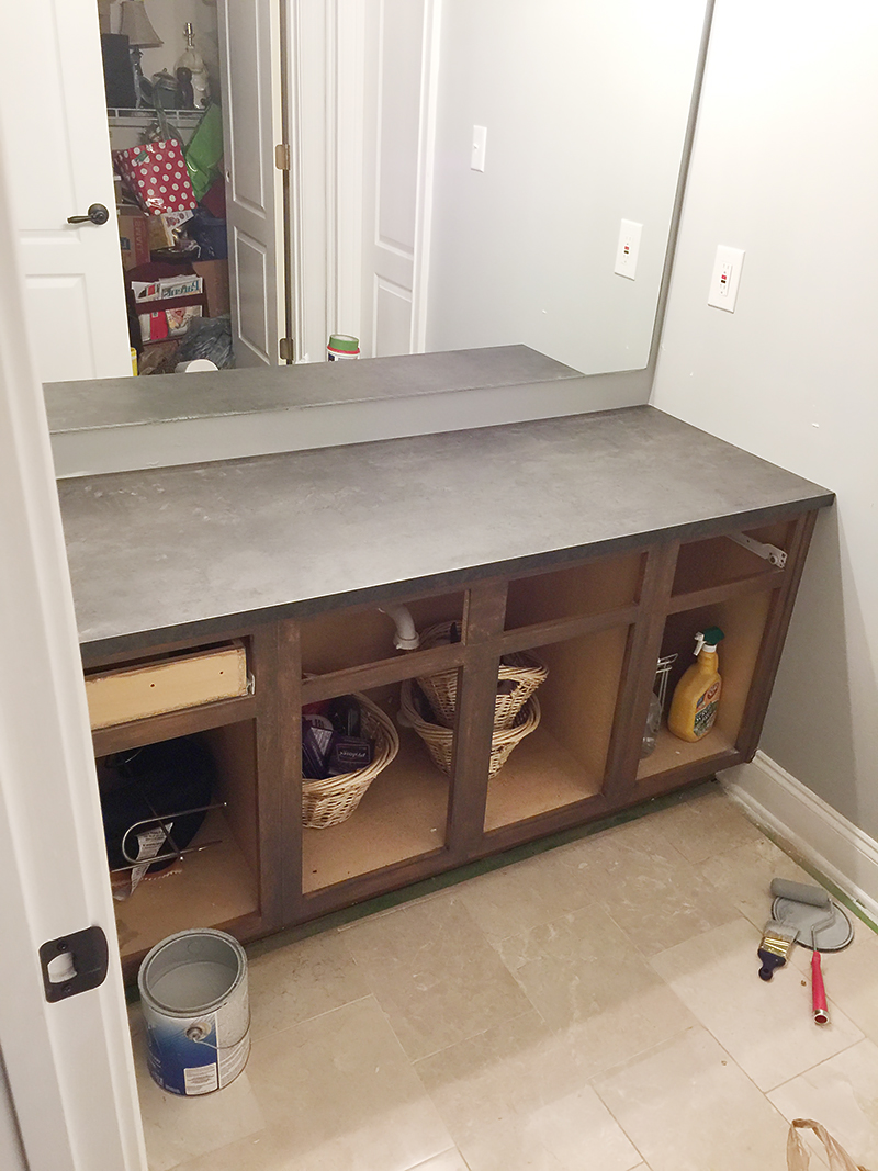 How to Refinish a Bathroom Vanity  Bower Power