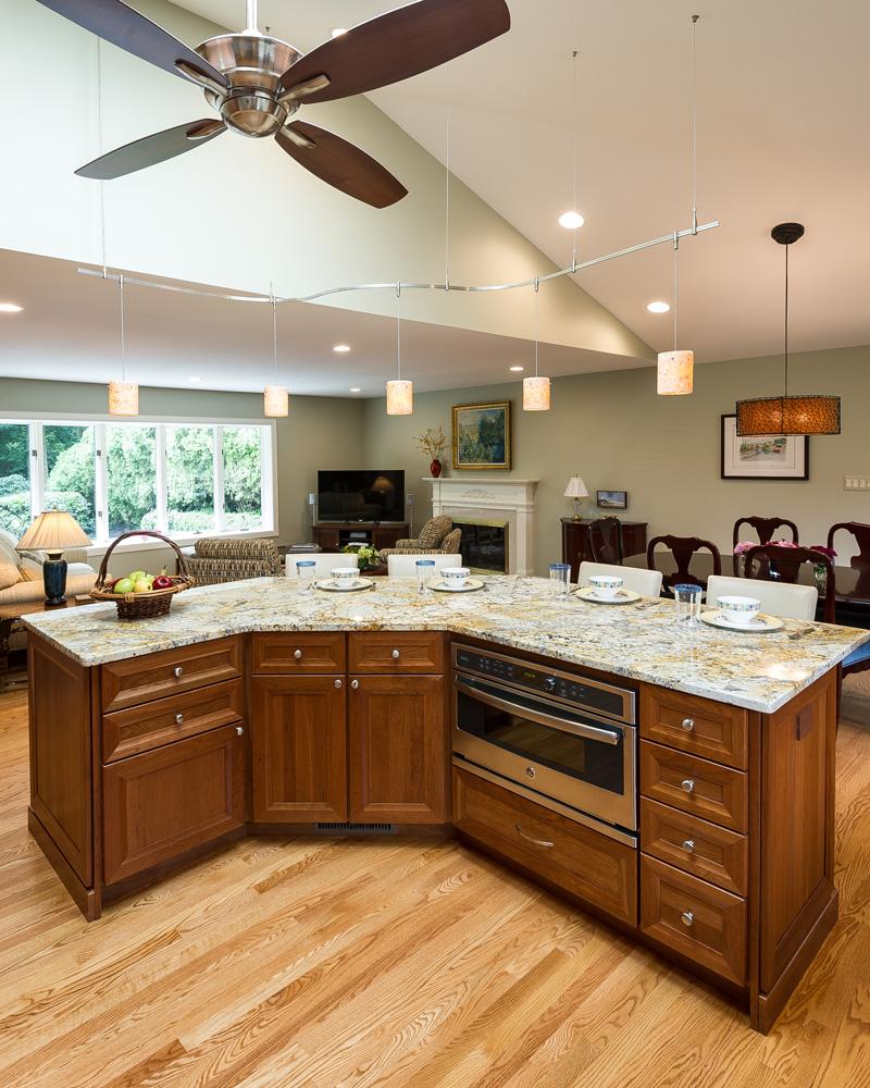 open floor plan kitchen renovation in northern virginia - remodeling