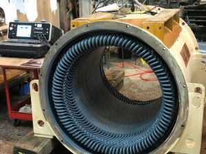 1700kVA Alternator being statically tested to prove the windings are in good condition