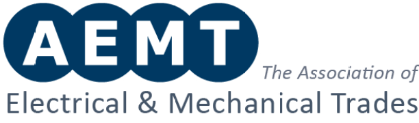 Image of the AEMT logo, which has 4 circles with each of the letters of the initials.