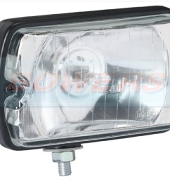 sim 3211 rectangular front spot driving lamp light peugeot 205 gti cti 106 306 mi16 [ 1100 x 900 Pixel ]
