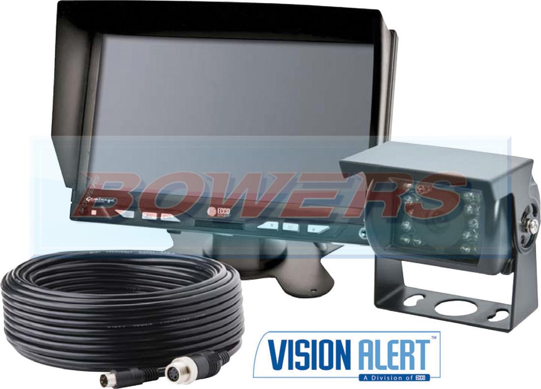 hight resolution of vision alert k7000b ecco gemineye 12v 24v reverse reversing camera kit k7000b