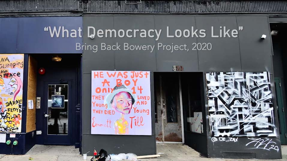 what Democracy Looks Like Film on the Bowery