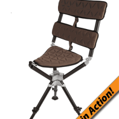 Portable Hunting Chair Orange Covers For Sale Hunt More 360 Stool