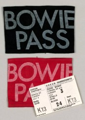 Ticket and backstage passes for David Bowie at the Hammersmith Odeon, London, 2 July 1973