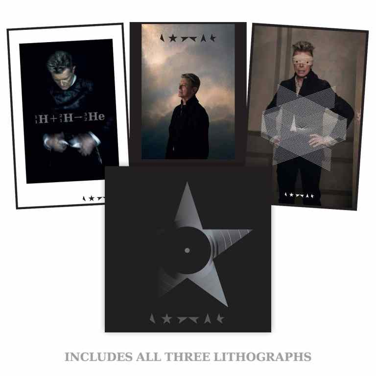 David Bowie – Blackstar clear vinyl bundle with three lithographs