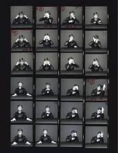 "Contact sheet for David Bowie's ""Heroes"" photo shoot by Masayoshi Sukita"