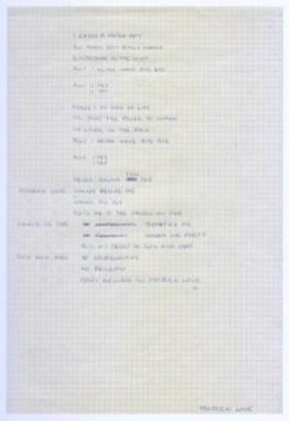 David Bowie's handwritten lyrics for Modern Love