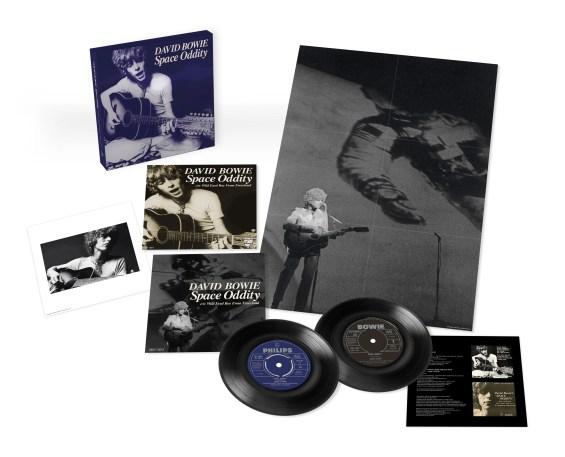 Space Oddity 50th Anniversary Edition single box set contents (2019)