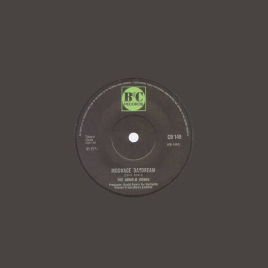 Moonage Daydream single (The Arnold Corns) –United Kingdom