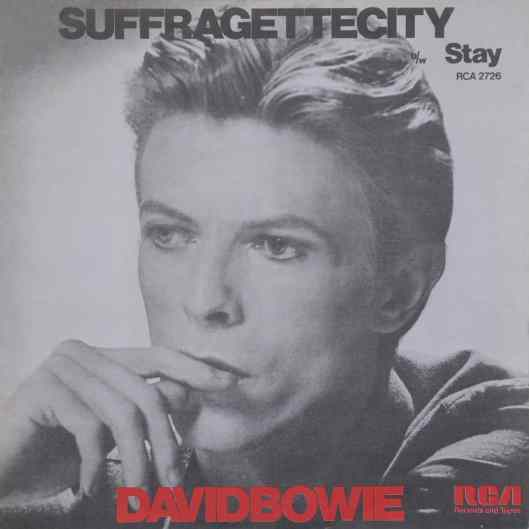 Suffragette City single – United Kingdom