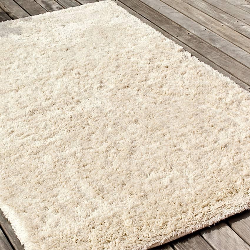 tapis rya laine creme 2 dimensions