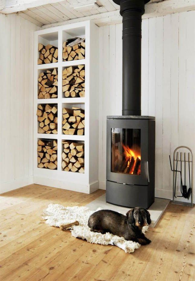 How to light a wood-burning stove