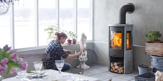 Wood-burning stoves, maximising heat output