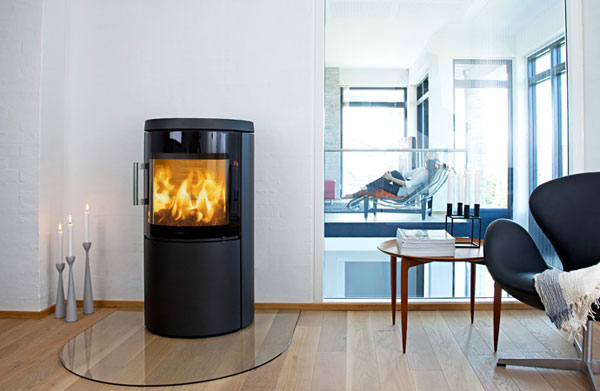 Room with a Hwam 3420C Wood Burning Stove