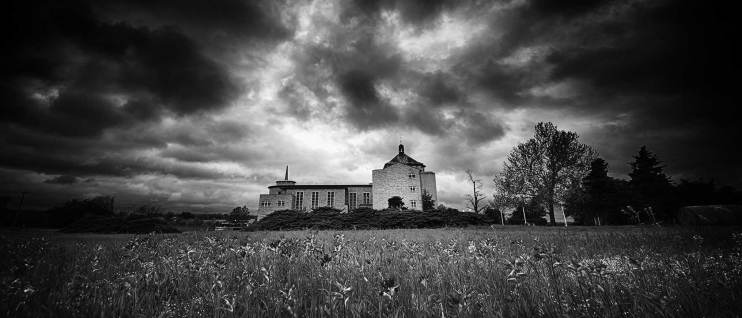 Broken Arrow's Our Lady of Sorrows Convent in Black & White