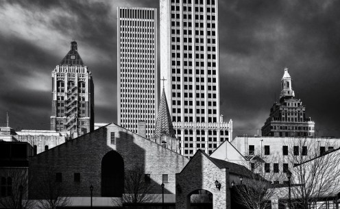 Tulsa Skyline Shadows