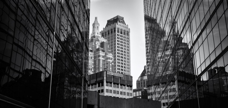 Tulsa Skyline Reflection