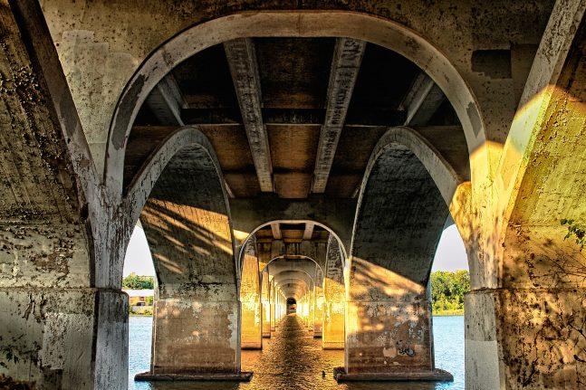 Under Tulsa's 21st Street Bridge