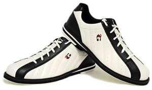 3G Kicks Chaussures de bowling, pour homme et femme, pour droitiers et gauchers, en 4couleurs, taille 36-48, blanc/noir, 42 (US 9.5)