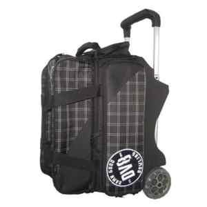 DV8 2 Ball Roller Bowling Bag- Black/White by DV8 Bowling Products