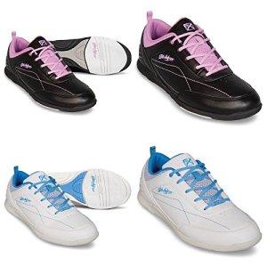 Chaussures de bowling, KR Strikeforce Capri, pour enfants, pour droitiers et gauchers en 2couleurs et femme chaussures taille 36–41 39 blanc/bleu