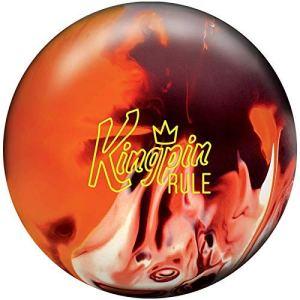 Brunswick Kingpin Règle, Mixte Adulte, Kingpin Rule Bowling Ball- Maroon/Orange/White 14lbs, Maroon/Orange/White, 14