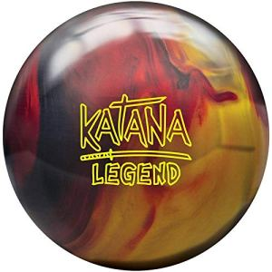 Radical Katana Legend, Mixte Adulte, Katana Legend Bowling Ball- Black/Red/Gold 14lbs, Noir/Rouge/doré, 14
