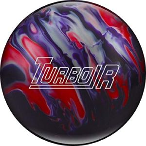 Ebonite Turbo/R – Violet/Rouge/argenté, Surface polie, Boule de Bowling réactive pour Les débutants et Les Joueurs de Tournoi – avec nettoyant de Balle EMAX 100 ML, 11 LBS