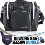 Athletico Bowling Bag & Seesaw Polisher Bundle – Sac fourre-tout à une balle avec support de balle rembourré – Convient à une seule paire de chaussures de bowling jusqu'à la taille 14 (Noir)