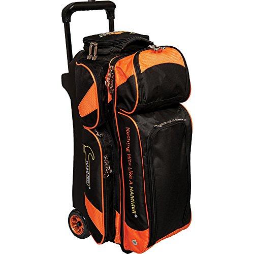 Hammer Premium Triple Sac de bowling à roulettes, Noir/orange
