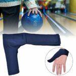 Alomejor Gants De Bowling Poignées de Sport Gant de Protection Convient Doigt Droite Gauche(Bleu)