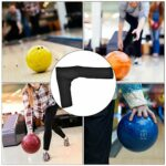 Alomejor Gants De Bowling Poignées de Sport Gant de Protection Convient Doigt Droite Gauche(Noir)