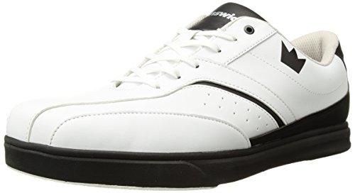 Brunswick Vapor Chaussures de Bowling pour Homme Blanc/Noir, Homme, 58-201110097, Blanc/Noir, 11.5