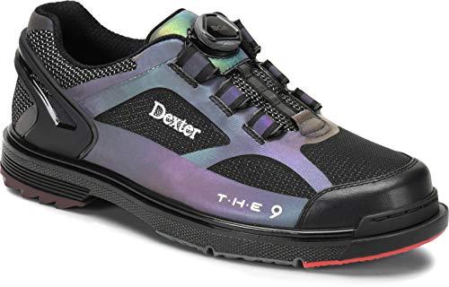 Dexter The 9 HT BOA Chaussures de bowling pour homme et femme avec semelle interchangeable, système de fermeture BOA dans les tailles 37-46 et sac à chaussures Mein-Bowlingshop – Noir – Noir , 46 EU