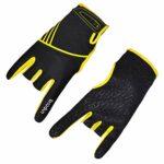 EXCEART 1 Paire de Gants de Bowling Accessoires de Bowling Confortables Instruments à Demi-Doigts Gants de Sport Mitaines de Bowling – Taille S/M (Jaune)