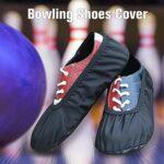 thorityau 1 paire de couvre-chaussures de bowling de qualité supérieure, pour l'intérieur et l'extérieur du centre de bowling à la maison, au bureau ou pour se promener.