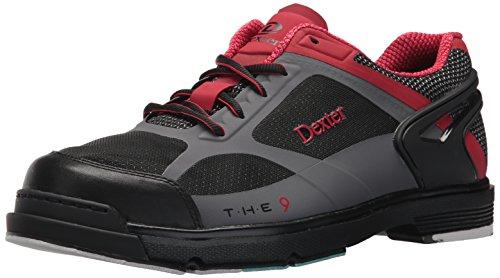 Dexter The 9 HT Chaussures de Bowling pour Homme Noir/Rouge/Gris Taille 14